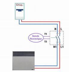 branchement thermostat chauffage electrique raccordement 233 lectrique d un thermostat