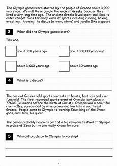 ks1 ks2 literacy sats reading comprehension fiction non fiction olympic games