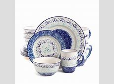 Gibson Kamille 16 Piece dinnerware Set, Blue