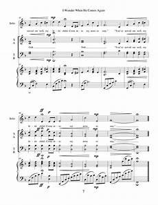 i wonder when he comes again sheet music i wonder when he comes again by linda pratt satb