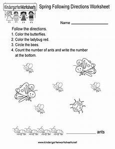 following directions worksheets free printable 11690 following directions worksheet for kindergarten