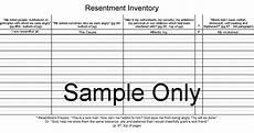 printable aa step 4 worksheets returnto last page