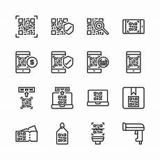 barcode und qr code d 252 nne linie und pixel icons
