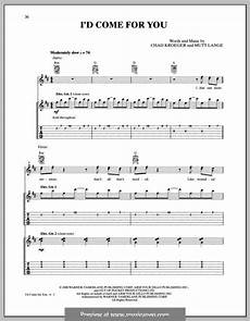 i d come for you nickelback music i love sheet music