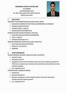 contoh resume kerja terbaik yang menarik minat arieon my