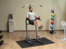 powerline pvkc83x vertical knee raise chin dip youtube