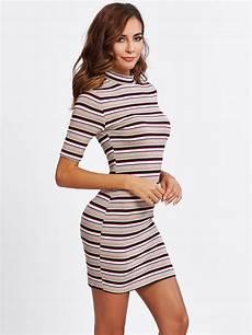 striped form fitting emmacloth fast fashion online