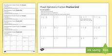 fractions mixed operations worksheet gcse foundation maths