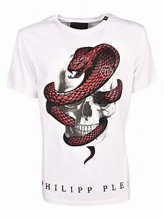 philipp plein skull cobra t shirt bianco 10567904