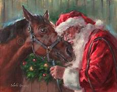 cards of santakissing his santa