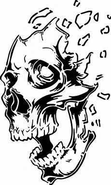 pin by bruce jackson on decals in 2019 skull stencil
