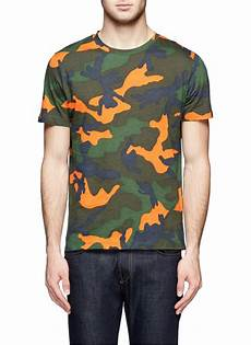 lyst valentino camouflage cotton t shirt for