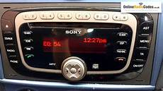 How To Find Ford Radio Code Serial From The Radio S