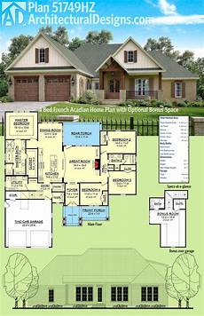 cajun house plans plan 51749hz four bed french acadian home plan with
