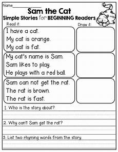 simple stories for beginning readers i love the comprehension questions at the end
