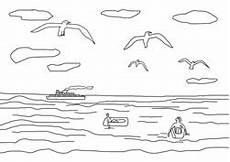 Malvorlage Urlaub Am Meer Ausmalbilder Ferien Am Meer Basteln Gestalten