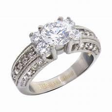 stainless steel cubic zirconia engagement wedding ring ebay