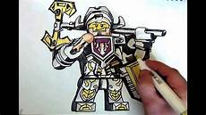 how to draw axl nexo knights lego