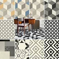 pattern vinyl flooring modern cubes retro tiles kitchen