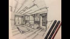 Fluchtpunkt Zeichnen Zimmer - how to draw a two point perspective room