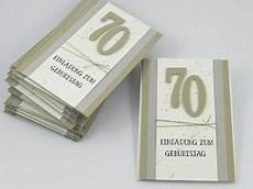 stempelhandwerk schlichte einladungskarten zum 70