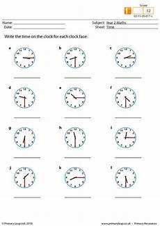 time worksheets uk 3219 primaryleap co uk time worksheet write the time each clock maths