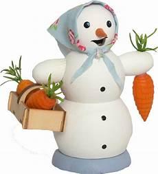 r 228 ucherm 228 nnchen schneefrau mit m 246 hrenkorb 13 cm