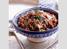 eggplant and pomegranate stew  with beef or lamb_image