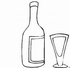 flasche und glas ausmalbild malvorlage nordisch