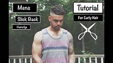 mens slick back hairstyle for short wavy mixed curly hair thebrandonleecook youtube
