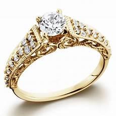 5 8ct vintage diamond engagement ring 14k yellow gold filigree deco solitaire ebay