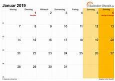 januar 2019 kalender januar 2019 kalender mit feiertagen