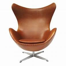 Arne Jacobsen Egg Chair In Cognac Leather By Fritz Hansen