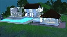 pour maison sims 3 construction d une maison moderne et tropicale