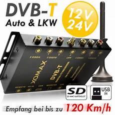 dvb t tuner kfz auto receiver box antenne 12 24v sd usb 2x