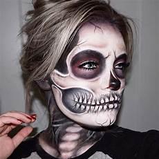 Make Up Halbes Gesicht - missbrimarie schminken