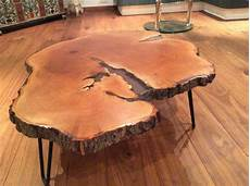 Tisch Aus Holzstamm Einer Linde Versuchstisch Fertig