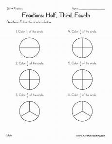 resource math fractions worksheet halves thirds fourths