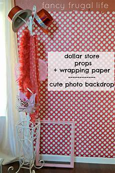 Diy Photo Backdrop With Wrapping Paper