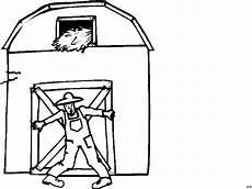 farmer vor seiner scheune ausmalbild malvorlage comics