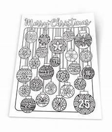 coloring advent calendar printable 8 5x11 pdf