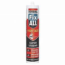 soudal fix all high tack adhesive sealant white 290ml