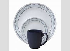Corelle Livingware Folk Stitch Dinnerware 16 Piece Set