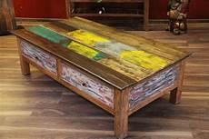 Couchtisch Holz Antik Wohnzimmertisch 150x80x45