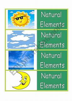 nature elements worksheets free 15091 elements flash cards esl worksheet by laoshiken