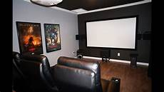 diy home theater movie room with epson 3020 projector klipsch 525 thx speakers youtube