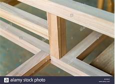construction building truss wood beam stockfotos