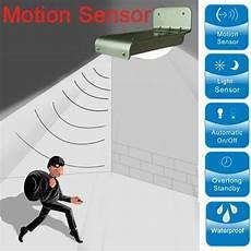 solar wall outdoor sensor motion infrared induction led light alexnld com