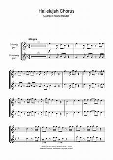 hallelujah chorus from the messiah sheet music george frideric handel recorder
