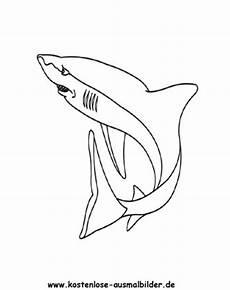 Malvorlage Hai Einfach Ausmalbild Hai 2 Zum Ausdrucken